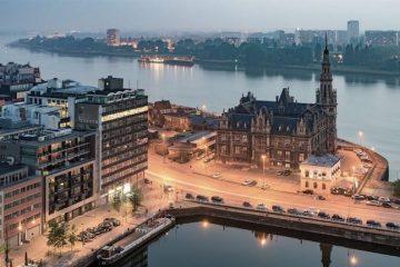 ciudades otono europa amberes belgica