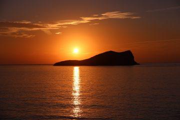 Ibiza en el crepúsculo