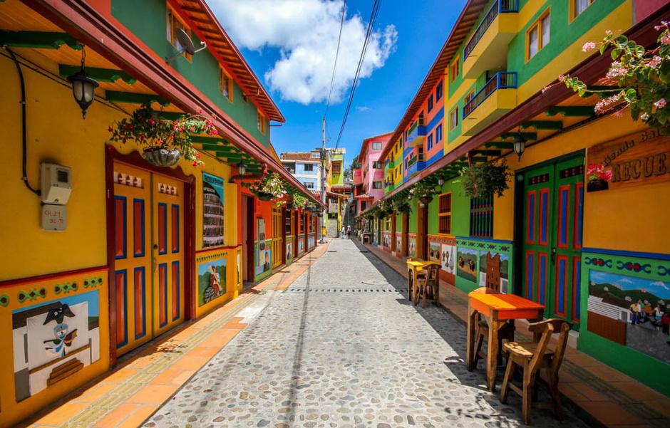 Guatapé en Colombia