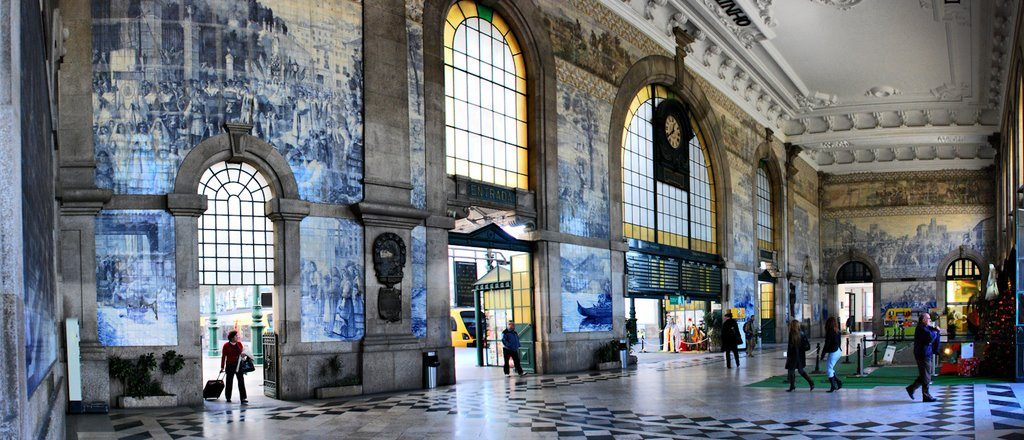 Estación trenes San Bento Portugal