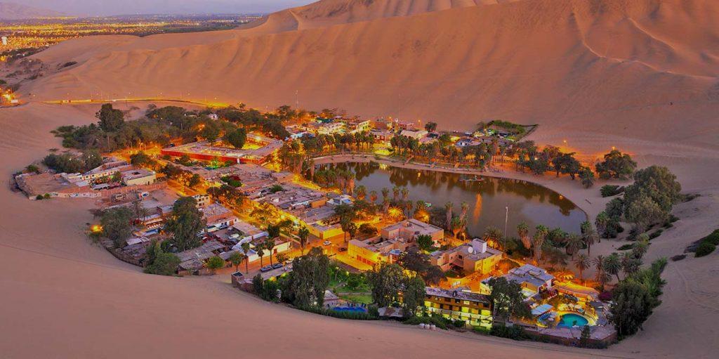 Oasis de Ica en Perú