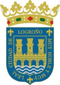 Escudo de Logroño con el rio Ebro
