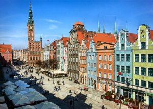 Edificios de Gdansk en Polonia