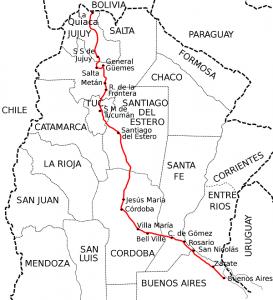 Ruta panamericana en Argentina