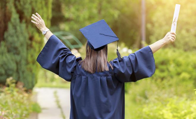 vestido de graduación